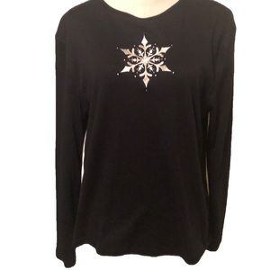 Holiday pullover sweater with snowflake. Xlg